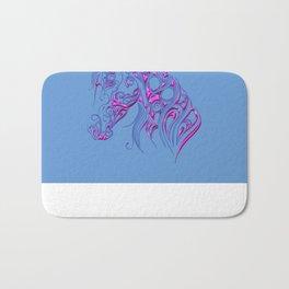 Chiseled Pink Horse Bath Mat