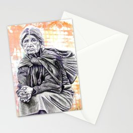 Old Lady Sitting Stationery Cards