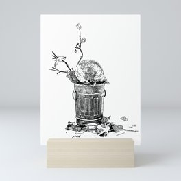 The World Has Been Trashed Mini Art Print