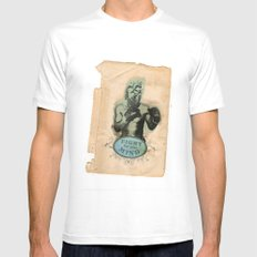 Fight for your mind MEDIUM Mens Fitted Tee White