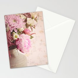 Heavenly Pink flowers Stationery Cards