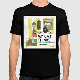 My cat thinks I am his pet T-shirt