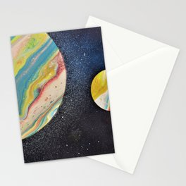 Pouring planets Stationery Cards