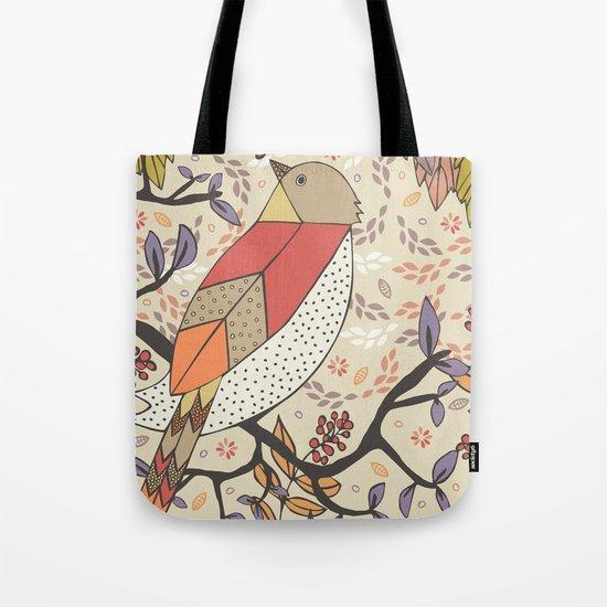 Singing Red Bird Tote Bag