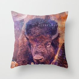 Spirit of the Buffalo - Shamanic Power Animal  Throw Pillow