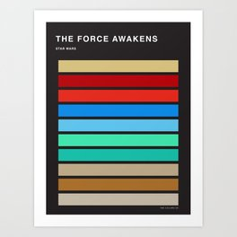 The colors of StarWars - The Force Awakens episode 7 Art Print