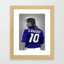Roberto Baggio - Italy Framed Art Print