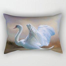 Swan Song Rectangular Pillow