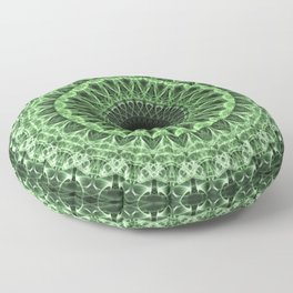 Green detailed mandala Floor Pillow