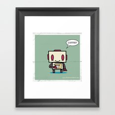 Coffee? Framed Art Print