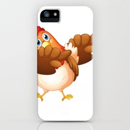 Dab Dabbing Chicken Lover Funny Gift iPhone Case