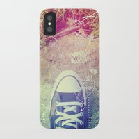 converse iPhone & iPod Cases featuring Converse by Jane Mathieu