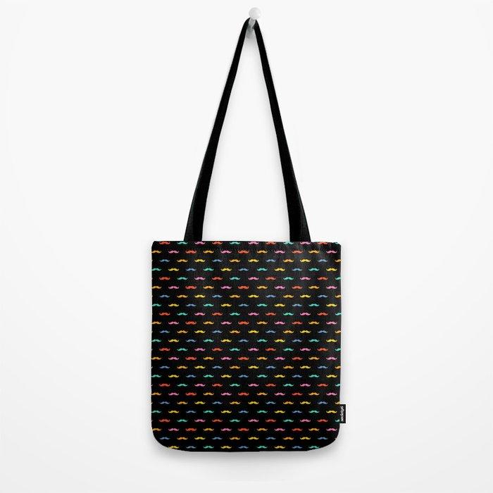 Happy Muatache Tote Bag