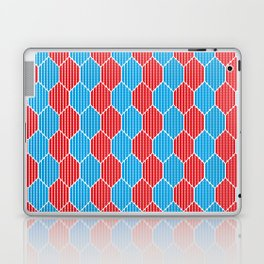 Blue red lozenges Laptop & iPad Skin