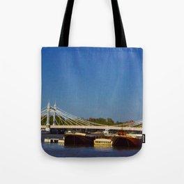 Albert Bridge on the Thames in London Tote Bag