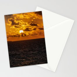 Sunset over the ocean art print Stationery Cards