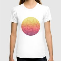 skyline T-shirts featuring Skyline by Rick Crane