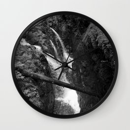 Tranquil Forest Waterfalls Wall Clock