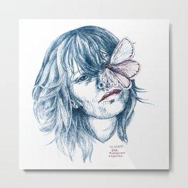 Augen-Schmetterling Metal Print