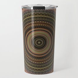 Vintage Bohemian Mandala Textured Design Travel Mug