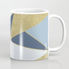 Abstract Blue and Gold Mug