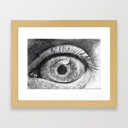 Eyes Wide Open Framed Art Print