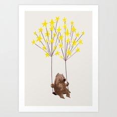 Stars Swing Art Print