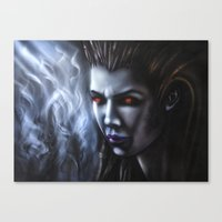starcraft Canvas Prints featuring Kerrigan  by Kanelov