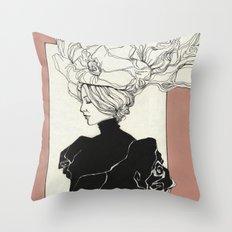 Vintage lady Throw Pillow