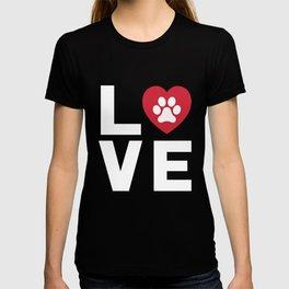 Animal Lover Dog Paw Print Love Dogs My Best Friend Shirt T-shirt