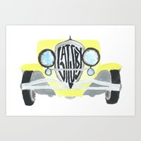great gatsby Art Prints featuring Gatsby by S. L. Fina