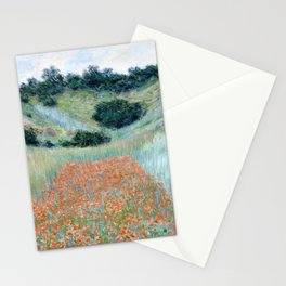 Poppy Field in a Hollow near Giverny by Claude Monet 1885 Stationery Cards