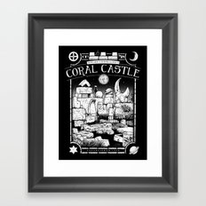 Coral Castle Framed Art Print