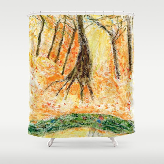 Sacred forest in Furano Hokkaido Shower Curtain