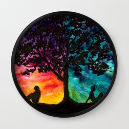 Two Different Worlds Wall Clock
