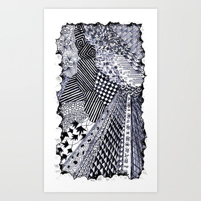 Zentangle 01 Art Print