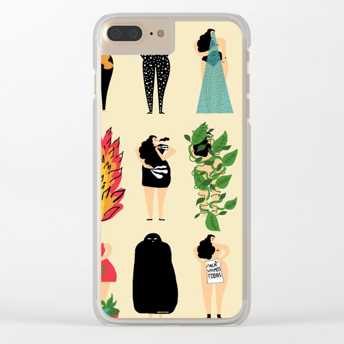 All of us live here Clear iPhone Case