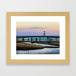 La niña y el puente Framed Art Print