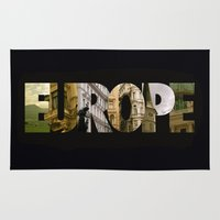 europe Area & Throw Rugs featuring Europe by Stokes Whitaker