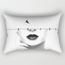 mindlessly free Rectangular Pillow