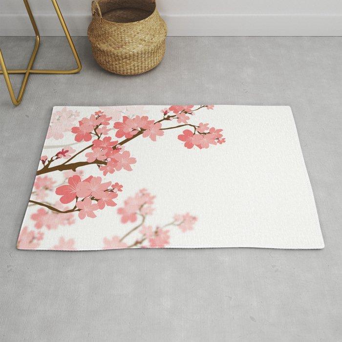 Cherry Blossom Rug By Naturez Society6