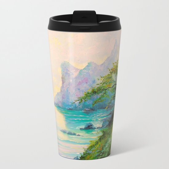 Morning by the sea Metal Travel Mug