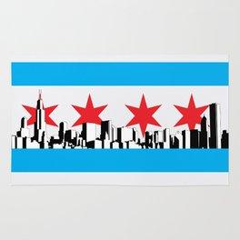 New Chicago Flag Rug