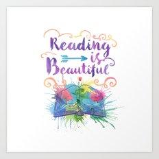 Reading is Beautiful Art Print
