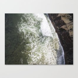 Beautiful Ocean     Drone Photography Canvas Print