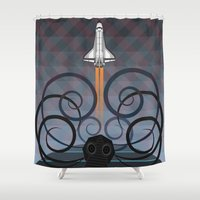 gravity Shower Curtains featuring Gravity by milanova