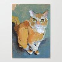 garfield Canvas Prints featuring Garfield by Suzanna Schlemm