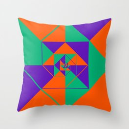 SquaRial Throw Pillow