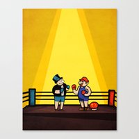video games Canvas Prints featuring Board Games Versus Video Games by Maestro Marko