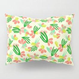 Henri's Garden in lemongrass // tropical flora pattern Pillow Sham